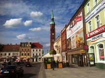 Starogard Gdanski town square Royalty Free Stock Images