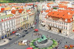 Staromestska's Square.View from Tower's top.Prague Stock Photography