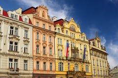 The Staromestska Square in Prague Stock Image