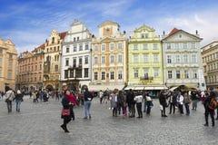 The Staromestska Square in Prague Royalty Free Stock Images