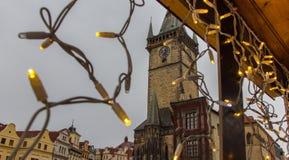 Staromestskaya squear, la Navidad Praga Fotografía de archivo