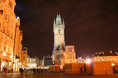 Staromestske fyrkant i staden av Prague för jul Arkivbild