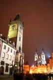 Staromestske fyrkant i staden av Prague för jul Royaltyfria Foton
