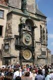 Staromestske namesti _Orloj_crowds Stock Photography