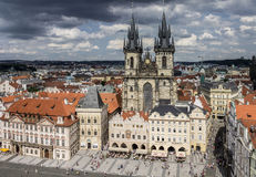 Staromestske Namesti Prague Royaltyfri Fotografi