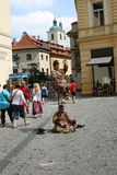 Staromestske namesti _street artists Royalty Free Stock Images