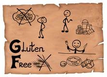 Staromodna ilustracja gluten diety bezpłatny pojęcie Zdjęcia Stock