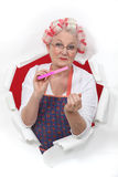 Staromodna kobieta fotografia stock