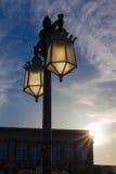 Staromodne latarnie uliczne Zdjęcia Royalty Free