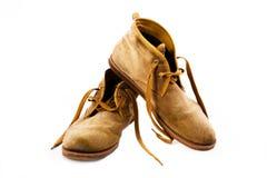 Staromodni brązów buty Zdjęcie Stock