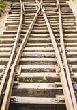 Staromodni kolejowi ślada Zdjęcia Stock