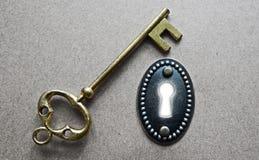Staromodny klucz Obraz Royalty Free