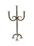 Staromodny miedziany elegancki candlestick Obraz Royalty Free