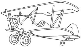 Staromodny samolot Zdjęcia Royalty Free
