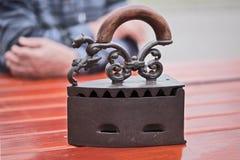 Staromodny starzejący się metalu żelazo Zdjęcie Royalty Free