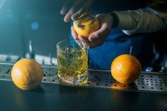 Staromodny whisky koktajl zdjęcie stock