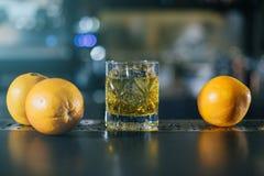 Staromodny whisky koktajl zdjęcie royalty free