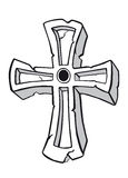 starożytny krzyż Obraz Royalty Free