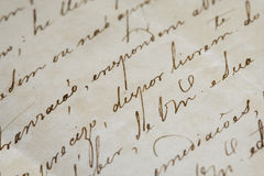 starożytny list Zdjęcie Royalty Free