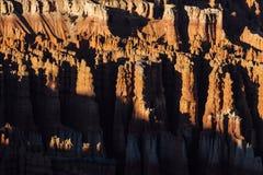 Starpschaduwen over Ongeluksboden in Bryce Canyon, Utah royalty-vrije stock afbeeldingen