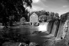 Historic Starr`s Mill at Georgia, USA royalty free stock image