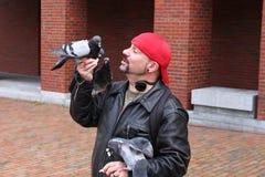 Starr Sarabia Portland, Maine`s own Bird whisper. royalty free stock photo