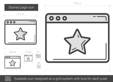 Starred page line icon. Royalty Free Stock Images