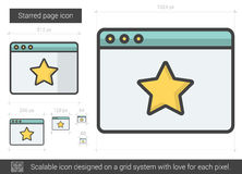 Starred page line icon. Royalty Free Stock Photos
