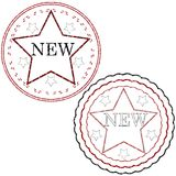 Starred stamps Royalty Free Stock Image