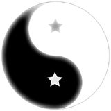 Starred yin yang Stock Photography