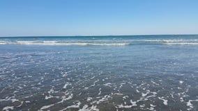 Starren am entfernten, Azure Ocean Stockbild