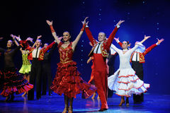Starring curtain call-the Austria's world Dance Stock Photos