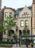 Starring House. This is a Spring picture of the Mason Brayman Starring House located in Chicago, Illinois.  The house was designed by Gustav Hallberg, is an Royalty Free Stock Photos