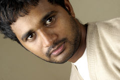 Starring Indian young man Royalty Free Stock Photo