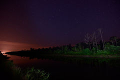 Starring night at Tanjung Karang, Malaysia Stock Photography
