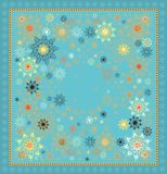 Starring scarf decor Stock Images