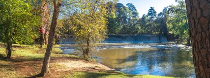 Starrs Mill and Waterfall stock photo