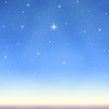 starry önska för ljus sky royaltyfri illustrationer