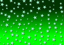 Starry backdrop in green Royalty Free Stock Photography