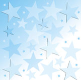 Starry background. Blue background with stars Vector Illustration