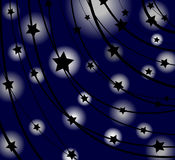Starry background. Abstract background with star silhouettes Royalty Free Stock Photo