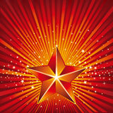 Starry background. 3d star and abstarct background vector illustration