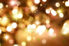 Starry background. Starry golden tone Christmas background Royalty Free Stock Photo