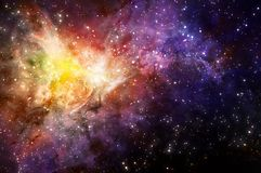 Starry background of deep outer space Stock Photo