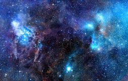 Starry background of deep outer space vector illustration