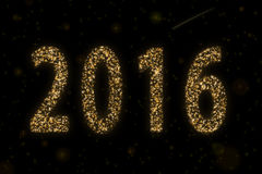 Starry 2016. On a starry background with a meteor royalty free stock image