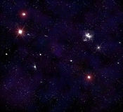 Starry background of outer space Royalty Free Stock Image