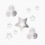 Starry background. The pattern for the background, made from stars of different sizes Royalty Free Stock Image