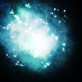 Starry background, rich star forming nebula, Royalty Free Stock Images
