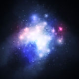 Starry background, rich star forming nebula Royalty Free Stock Images